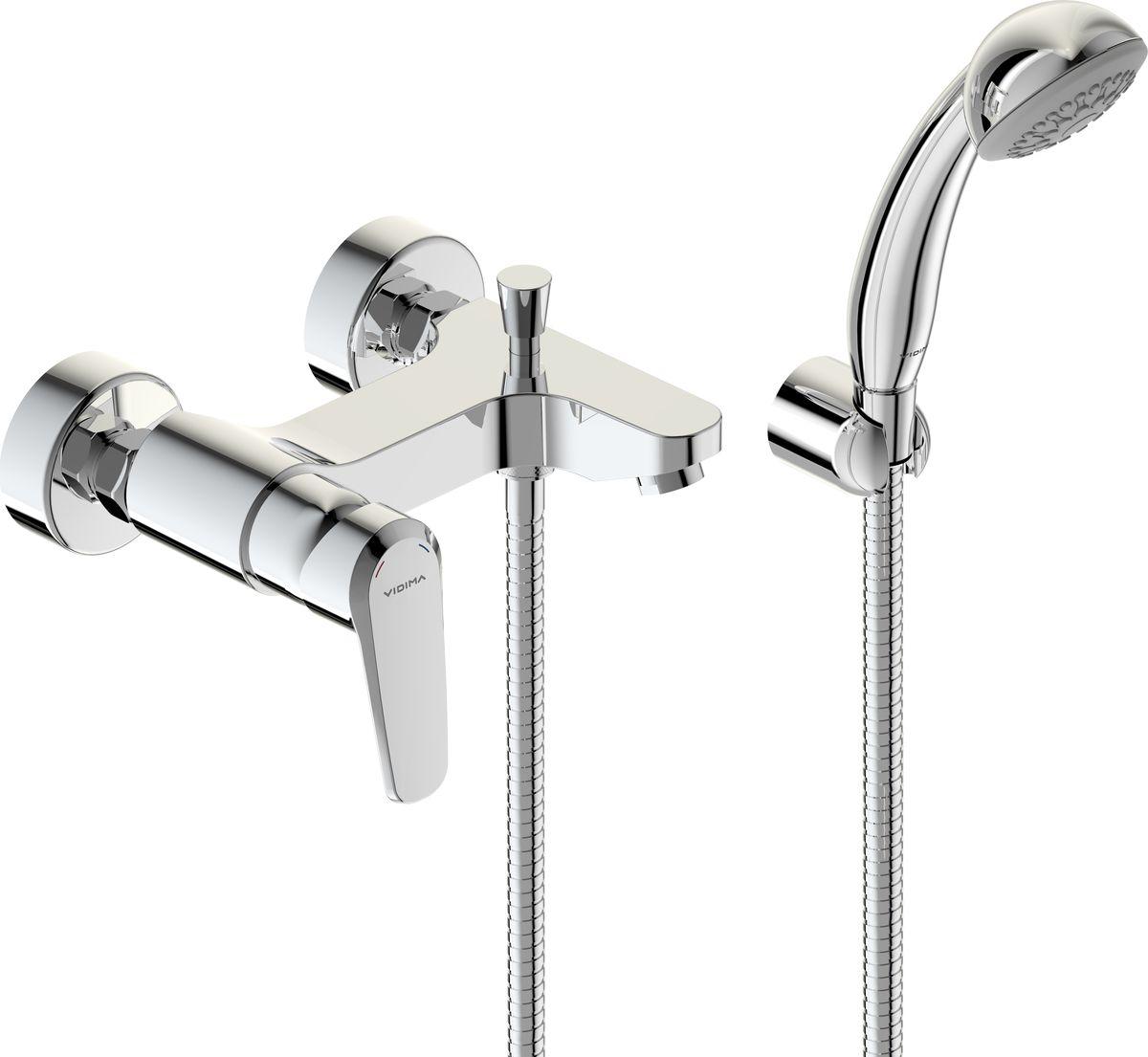 Смеситель для ванны Vidima Баланс, излив 154-161 ммBA267AAСмеситель для ванны Vidima Баланс имеет корпус и излив из 100% латуни. Изделие устанавливается на стену. Система облегченного монтажа SmartFix обеспечивает комфорт во время установки и надежность эксплуатации. Монтаж производится на стандартных эксцентриках (в комплекте: эксцентрики, металлические отражатели, уплотнительные прокладки). Смеситель снабжен литым изливом и аэратором Perlator. Металлическая рукоятка имеет систему защиты от нагревания Comfort Touch и индикатор холодной/горячей воды. Душевой гарнитур в комплекте (душевая лейка, металлический шланг, держатель для лейки). Переключение ванна/душ ручное. Возможность использовать функцию душ даже при очень низком давлении воды. Технические характеристики: Высота излива: 154-161 мм. Расстояние от стены до аэратора: 161 мм. Керамический картридж: 35 мм. Диаметр душевой лейки: 70 мм. Длина металлического шланга: 150 см.