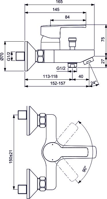 """Набор Vidima """"Уно"""" включает в себя смеситель для умывальника, смеситель для ванны/душа и душевой набор со штангой. Корпусное тело и излив каждого смесителя состоят на 100% из латуни высочайшего качества, что обеспечивает дополнительную безопасность для здорового человека.Смеситель для ванны/душа:Установка: на стену.Система облегченного монтажа.SmartFix.Монтаж на стандартных эксцентриках (в комплекте эксцентрики, металлические отражатели, уплотнительные прокладки).Материал корпуса и излива: 100% латунь.Литой излив.Расстояние от стены до аэратора: 157 мм.Аэратор Perlator.Керамический картридж 35 мм.Металлическая рукоятка.Система защиты рукоятки от нагревания.Comfort Touch.Индикатор холодной/горячей воды.Переключение ванна/душ: ручное.Смеситель для умывальника:Установка: на раковину.Система облегченного монтажа.EasyFix.Материал корпуса и излива: 100% латунь.Литой излив.Длина излива: 84 мм.Аэратор Perlator.Керамический картридж 35 мм.Металлическая рукоятка.Система защиты рукоятки от нагревания.Comfort Touch.Гибкие шланги: 40 см.Съемные шланги.Возможность установки нажимного донного клапана.Душевая лейка:Диаметр душевой лейки: 70 мм.Количество функций: 1.Режим струи душевой лейки: дождь.Металлический шланг: 1500 мм.Штанга: 600 мм, диаметр 19 мм.Фиксатор душевой лейки.Пластиковые держатели.Регулировка наклона душевой лейки."""