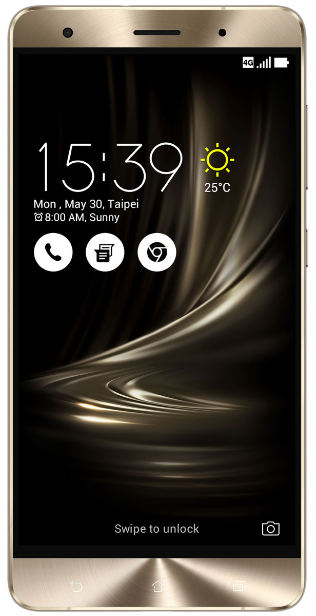 ASUS ZenFone 3 Deluxe ZS570KL, Gold (90AZ0161-M00110)90AZ0161-M00110Великолепный смартфон ASUS ZenFone 3 Deluxe ZS570KL, в котором безупречное качество изготовления и техническое совершенство приводят к рождению уникальной формы - тонкого цельнометаллического корпуса без каких-либо пластиковых вставок для антенн, а внутри - 23-мегапиксельная камера с системой тройной автофокусировки TriTech и 6 гигабайт оперативной памяти.ZenFone 3 Deluxe обладает стильным, полностью металлическим корпусом без диэлектрических вставок на задней крышке, изящество которого подчеркивается эффектными гранями, выполненными с помощью алмазной резки.ZenFone 3 Deluxe - это чудо современных технологий, которое рождается в результате сложного производственного процесса, включающего в себя 240 этапов. Прецизионная фрезеровка заготовки для получения прочного и при этом тонкого корпуса, полировка металлической рамки методом пескоструйной обработки - каждый этап представляет собой еще один шаг на пути к техническому совершенству, которым является новый смартфон ASUS.Все, что вы увидите на 5,7-дюймовом экране смартфона ZenFone 3 Deluxe, будет таким же реалистичным, как сама реальность, ведь он изготовлен по технологии Super AMOLED, наделяющей его невероятной яркостью, обладает высоким разрешением Full-HD (1920x1080 пикселей), потрясающей контрастностью (3 000 000:1) и расширенным цветовым охватом (более 100% цветового пространства NTSC) - и все это дополнено интеллектуальными алгоритмами обработки изображения (технология ASUS Tru2Life). Благодаря очень тонкой рамке (всего 1,3 мм), размер дисплея составляет целых 79% от размера всей передней панели устройства, а функция работы в спящем режиме позволяет выводить на экран важную информацию при минимальном энергопотреблении.В ZenFone 3 Deluxe применяется высокопроизводительный процессор Qualcomm Snapdragon 821, изготовленный по современнейшей технологии 14 нм. Потребляя меньше электроэнергии, этот чип обеспечивает более высокую скорость работы приложен