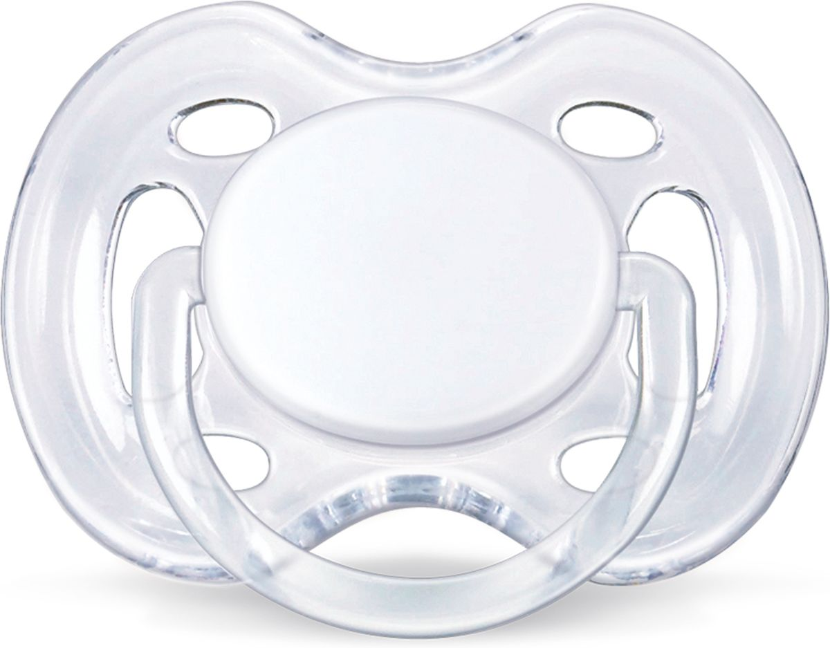 Philips Avent Пустышка серия FreeFlow SCF178/13 прозрачная, 1 шт., 0-6 мес. avent philips freeflow 6 18 мес уп 2шт bpa free avent авент