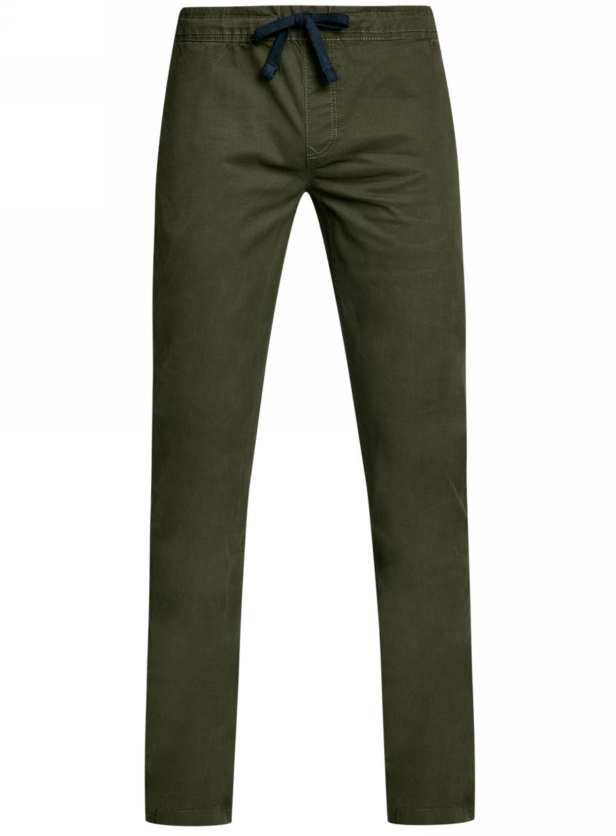 Брюки мужские oodji Lab, цвет: хаки. 2L100081M/46238N/6600N. Размер 44-182 (52-182) брюки oodji oodji oo001ewjeg76