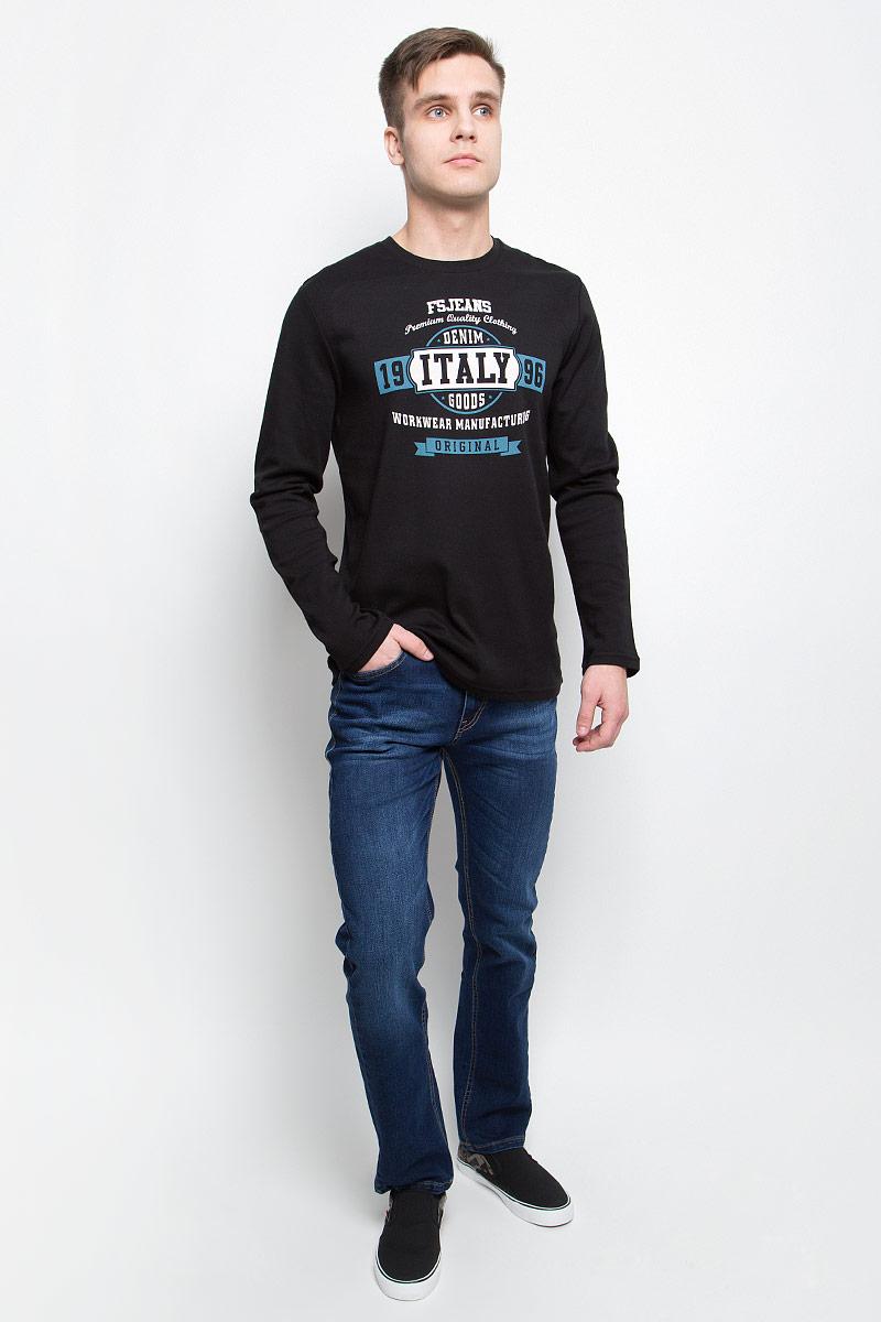 Джинсы мужские F5, цвет: синий. 265125_09348. Размер 31-32 (46/48-32)265125_09348, Blue denim Davils play str., w.mediumМужские джинсы F5 изготовлены из натурального хлопка с добавлением полиэстера и спандекса. Джинсы средней посадки застегиваются на пуговицу в поясе и ширинку на застежке-молнии. На поясе имеются шлевки для ремня. Спереди модель дополнена двумя втачными карманами и одним небольшим накладным кармашком, а сзади - двумя накладными карманами. Модель оформлена эффектом легкой потертости.