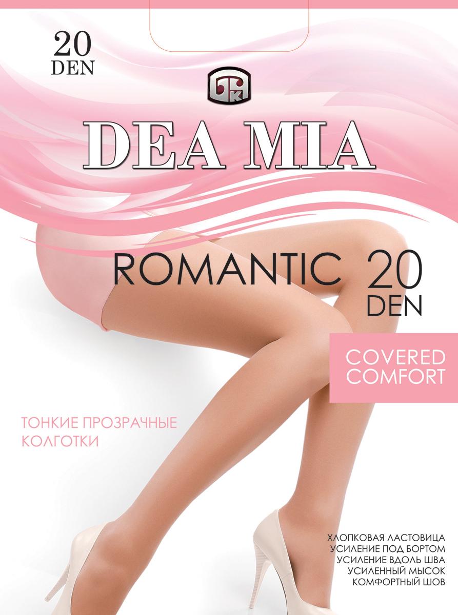 Колготки женские Dea Mia Romantic, 20 den, цвет: бронза. 3С1442-Д38/20. Размер 53С1442-Д38/20Колготки женские Dea Mia Romantic 20 den выполнены из полиамида и эластана. Усиление под бортом и вдоль шва, комфортный шов, хлопковая ластовица, усиленный мысок.
