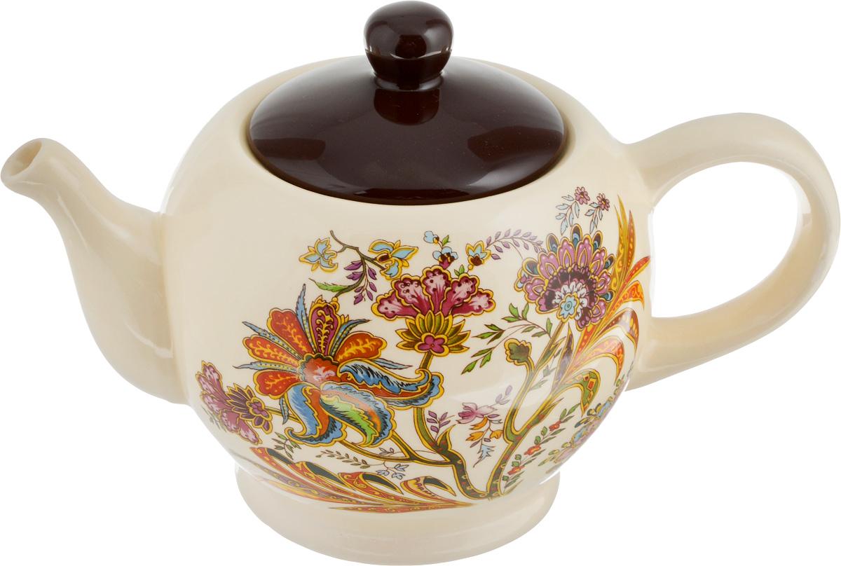 Чайник заварочный Loraine, 930 мл24857Заварочный чайник Loraine изготовлен из высококачественного доломита с глазурованным покрытием и оформлен изображением цветов. Гладкая и идеально ровная поверхность обеспечивает легкую очистку. Чайник поможет заварить крепкий ароматный чай и великолепно украсит стол к чаепитию. Можно использовать в микроволновой печи и мыть в посудомоечной машине. Диаметр чайника (по верхнему краю): 7 см. Высота чайника (без учета крышки): 11 см.