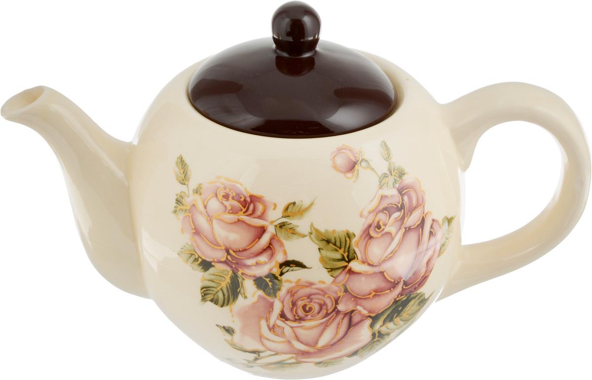 Чайник заварочный Loraine Розы, 950 мл21673Заварочный чайник Loraine Розы изготовлен из высококачественного доломита с глазурованным покрытием и оформлен изображением цветов. Гладкая и идеально ровная поверхность обеспечивает легкую очистку. Чайник поможет заварить крепкий ароматный чай и великолепно украсит стол к чаепитию. Можно использовать в микроволновой печи и мыть в посудомоечной машине. Диаметр чайника (по верхнему краю): 6,5 см. Высота чайника (без учета крышки): 11 см.