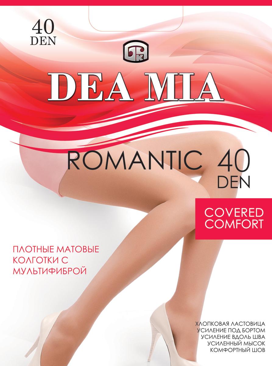 Колготки женские Dea Mia Romantic, 40 den, цвет: шаде. 3С1447-Д38/40. Размер 43С1447-Д38/40Колготки женские Dea Mia Romantic 40 den выполнены из полиамида и эластана. Усиление под бортом и вдоль шва, комфортный шов, хлопковая ластовица, усиленный мысок.