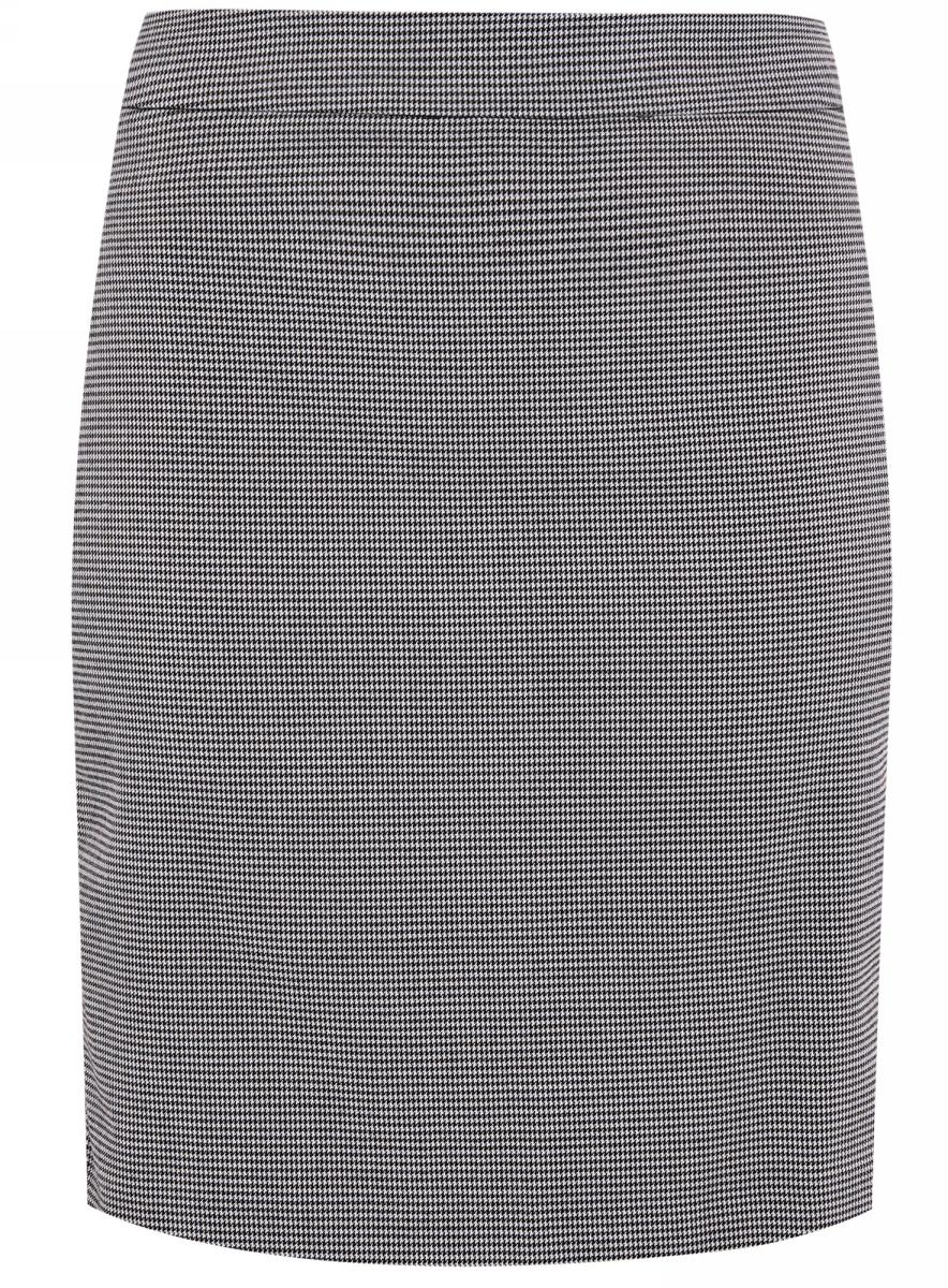 Юбка oodji Ultra, цвет: белый, черный. 11601204-2/45735/1029G. Размер 36-170 (42-170)11601204-2/45735/1029GСтильная юбка прямого кроя выполнена из высококачественного материала. По бокам она дополнена декоративными молниями. Сзади модель застегивается на потайную застежку-молнию, имеется небольшой разрез.