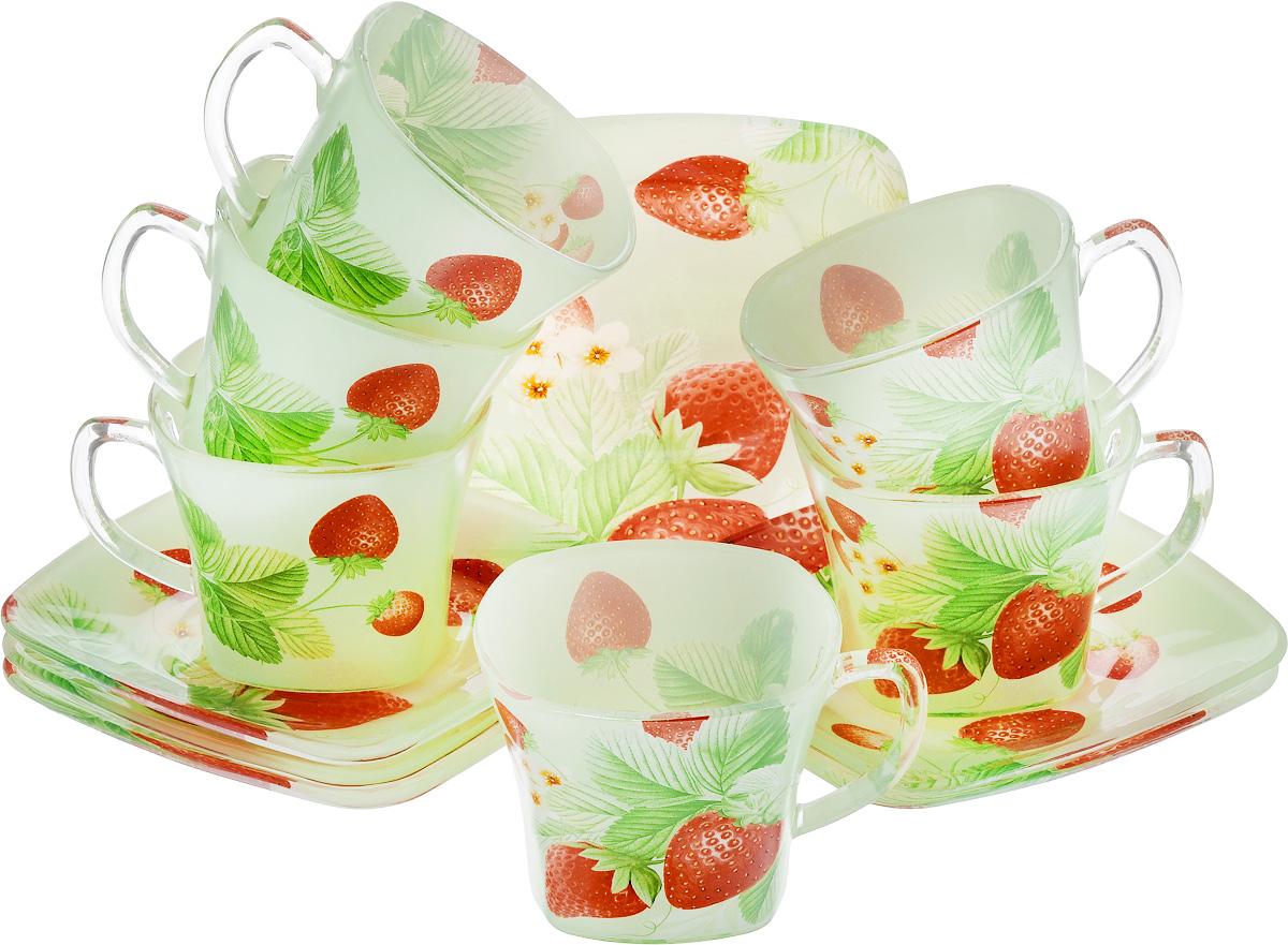 Набор чайный Loraine, цвет: красный, зеленый, 12 предметов книги издательство аст новогодняя сказка выше некуда