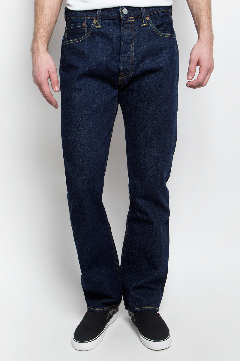 Джинсы мужские Levi's® 501 Original, цвет: темно-синий. 0050101010. Размер 34-32 (50-32) ugreen hdd enclosure sata to usb 3 0 hdd case tool free for 7 9 5mm 2 5 inch sata ssd up to 6tb hard disk box external hdd case