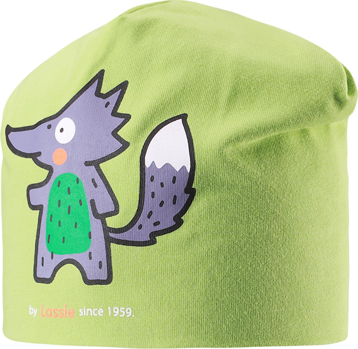 Шапка детская Lassie, цвет: зеленый. 7187178300. Размер 46/48 шапка детская lassie цвет бордовый 728693 4980 размер s 46 48