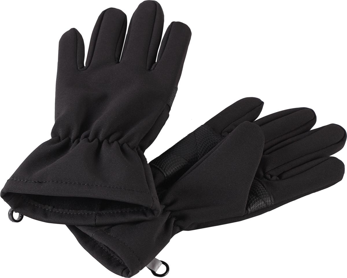 Перчатки детские Lassie Softshell, цвет: черный. 7277059990. Размер 3