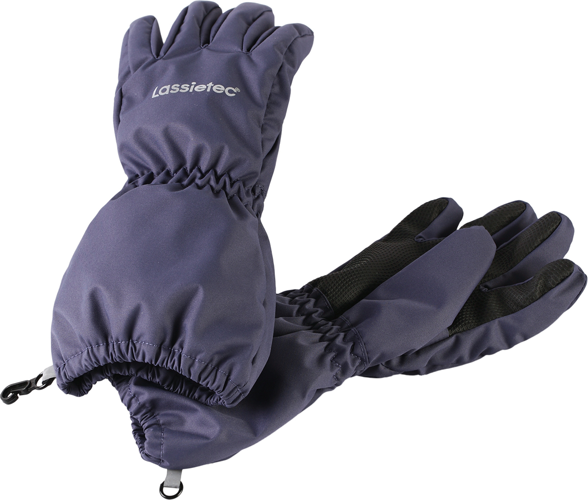 Перчатки детские Lassie, цвет: темно-синий. 7277069630. Размер 57277069630Дышащие детские перчатки изготовлены из очень износостойкого и абсолютно водонепроницаемого материала. В них предусмотрена водонепроницаемая мембрана и трикотажная подкладка из полиэстера с начесом. Усиления на ладони, кончиках пальцев и на большом пальце позволяют крепко держать в руках разные сокровища, найденные во время весенних приключений на природе, а еще хорошо согревают ручки. Сверху снабжены светоотражающим элементом.