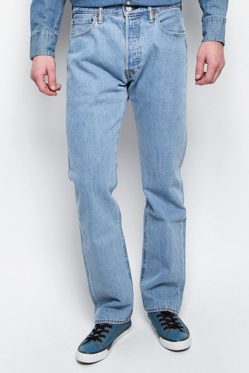 Купить Джинсы мужские Levi's® 501, цвет: голубой. 0050101130. Размер 29-32 (44/46-32)
