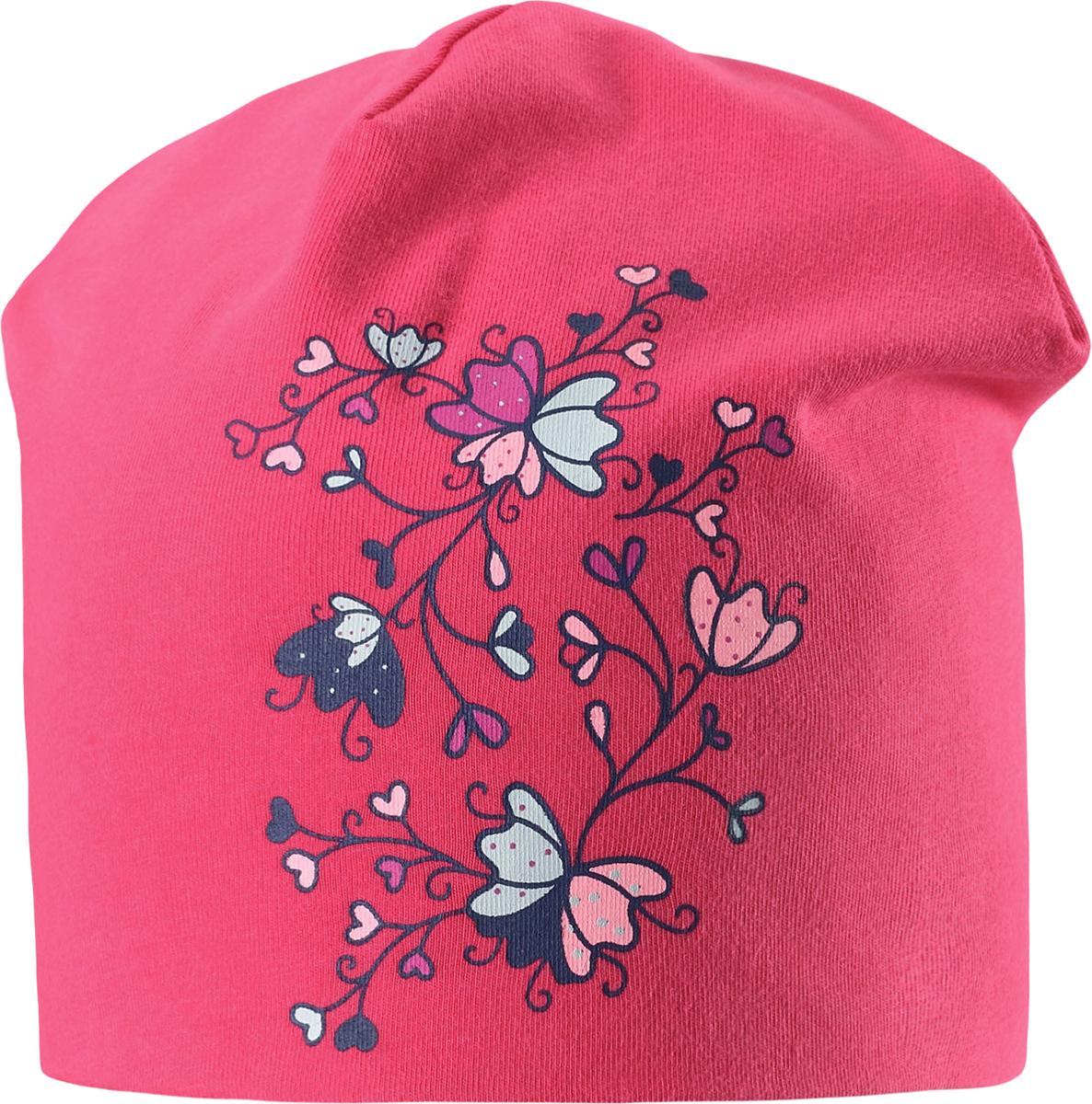 Шапка для девочки Lassie, цвет: розовый. 7287043400. Размер 46/48
