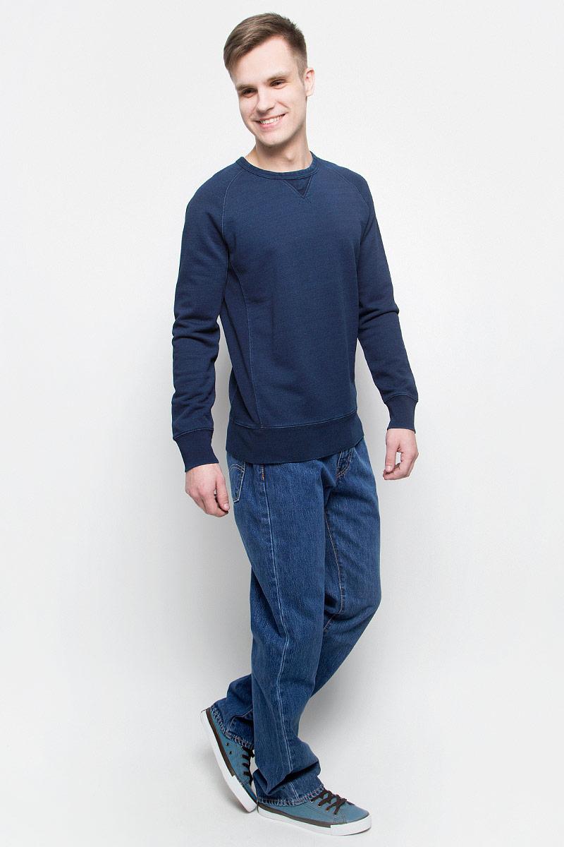 Джинсы мужские Levis® 514, цвет: синий. 0051407370. Размер 32-32 (48-32)0051407370Мужские джинсы Levis® 514 выполнены из высококачественного натурального хлопка. Джинсы прямого кроя застегиваются на пуговицу в поясе и ширинку на застежке-молнии, дополнены шлевками для ремня. Джинсы имеют классический пятикарманный крой: спереди модель дополнена двумя втачными карманами и одним маленьким накладным кармашком, а сзади - двумя накладными карманами.