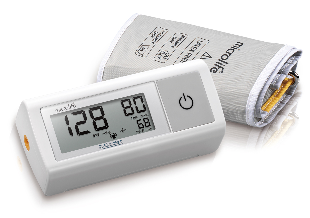 Microlife тонометр автоматический BP A1 EasyBP A1 EasyАвтоматический тонометр Microlife BP A1 Easy – компактный прибор для дороги и дома. Прибор оснащен уникальной технологией Gentle+ - это новейший алгоритм накачки давления в манжету, необходимого для точного и безболезненного процесса измерения. та функция со своими задачами справляется на все 100%. Нагнетание воздуха происходит более плавно, чем у приборов предыдущего поколения. Давление воздуха в манжете создается не выше уровня, необходимого для точного измерения. Благодаря Gentle+, процесс измерения стал еще более комфортным, а результат еще более точным.Другое достоинство прибора BP A1 Easy – наличие PAD-технологии. Технология автоматически обнаруживает сердечные аритмии во время измерения артериального давления.Для многих покупателей определяющим в выборе, станут компактные размеры самого прибора и простое управление одной кнопкой.