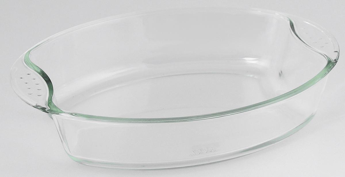 Жаровня Loraine, 2 л20668Овальная жаровня Loraine изготовлена из жаропрочного боросиликатного прозрачного стекла. Стеклянная посуда идеальна для запекания, так как стекло - это экологически чистый, износостойкий и долговечный материал, к которому не прилипает пища, в такой посуде пища сохраняет все свои полезные вещества и микроэлементы. Емкость идеальна для запекания в духовке птицы и мяса, для приготовления лазаньи, запеканки и даже пирогов. С жаровней Loraine вы всегда сможете порадовать своих близких оригинальной выпечкой.Подходит для использования в духовке при температуре до +400°С, в морозильной камере при температуре до -40°С. Можно использовать в микроволновой печи. Подходит для мытья в посудомоечной машине. Объем: 2 л. Размер жаровни (с учетом ручек): 30 см х 21,5 см. Высота стенки: 6 см.