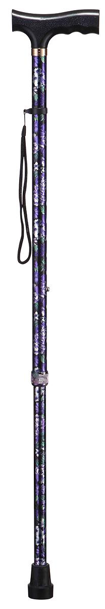 B.Well Трость WR-411 цветыWR-411WR-411 – это классическая опорная трость по доступной цене. Рукоятка трости имеет Т-образную форму, сделана из прочного нескользящего пластика. Корпус трости выполнен из авиационного алюминия, что обеспечивает и прочность, и легкость.Все трости B.Well являются телескопическими и регулируются по высоте. Кнопочный замок надежно зафиксирует трость на том уровне, который удобен и комфортен для Вас. Трехслойное покрытие корпуса трости обеспечит долговечность выбранного Вами рисунка.