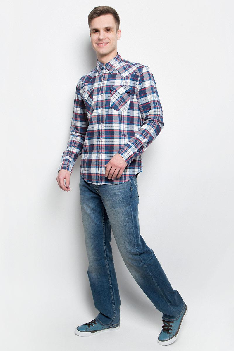 Рубашка мужская Levi's®, цвет: синий, красный, белый. 6581602170. Размер XXL (54) рубашка мужская levi s® цвет синий красный белый 6581602170 размер xxl 54