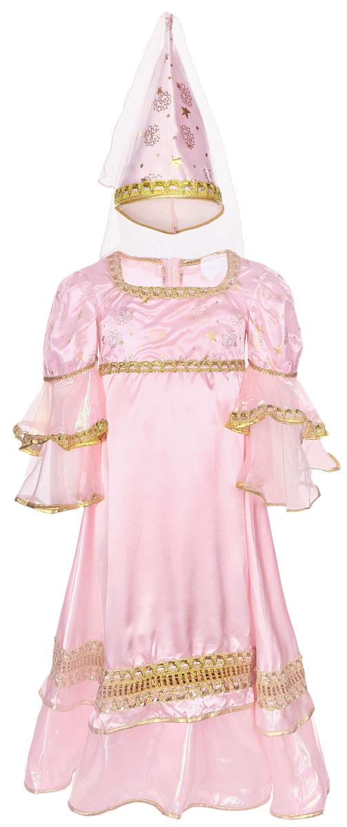 Карнавалия Карнавальный костюм для девочки Розовая фея размер 36 шапочка кошечка розовая карнавалия