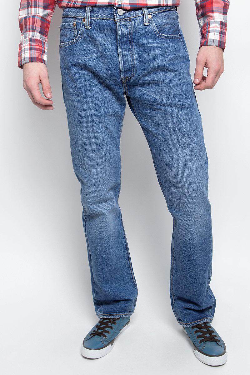 Купить Джинсы мужские Levi's® 501, цвет: темно-голубой. 0050123810. Размер 31-32 (46/48-32)