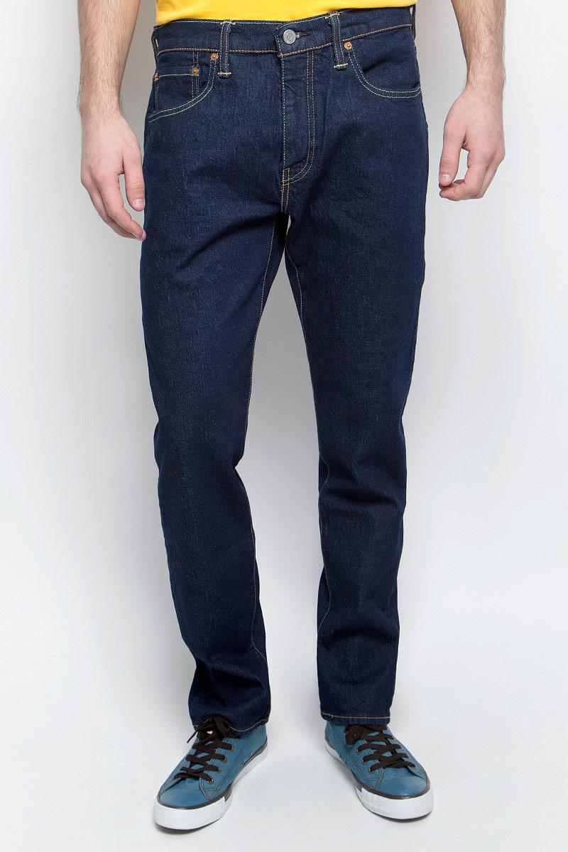 Джинсы мужские Levi's® 502, цвет: темно-синий. 2950700200. Размер 31-34 (46/48-34) семировые джинсы мужские с низкой талией личности дыры ковбойские штаны для ног 19416241111 ковбой темно синий 31
