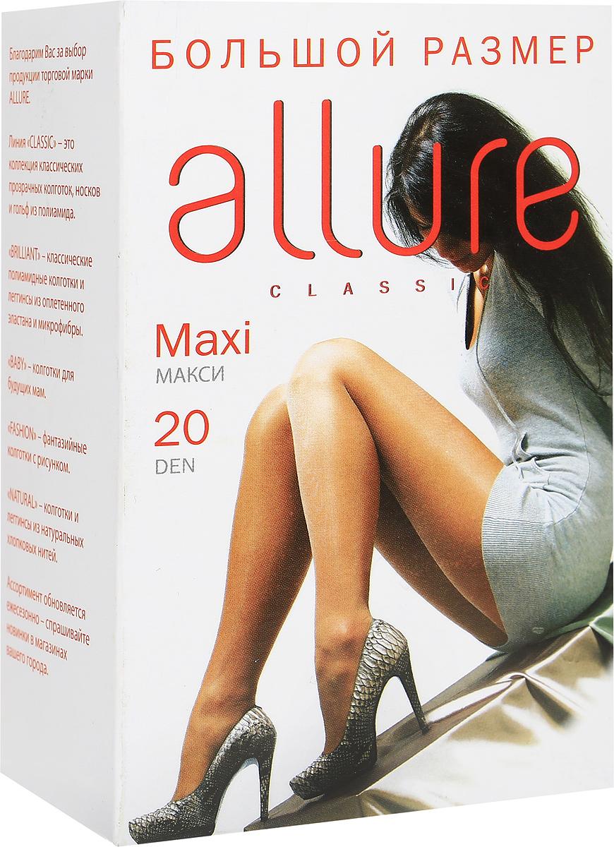 Колготки Allure Maxi 20, цвет: Glase (загар). Размер 8Maxi 20Тонкие матовые колготки классической модели для летнего сезона. Большой размер, усиленная верхняя часть, мягкий пояс, большая вставка и укрепленный носок.