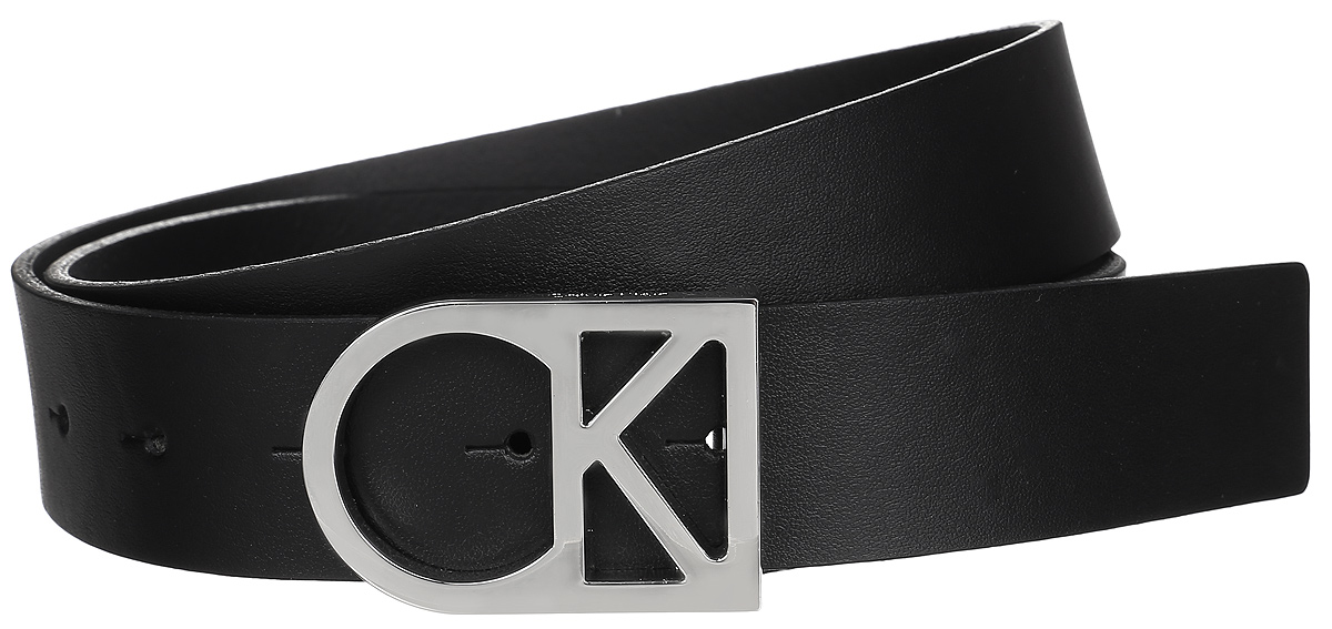 Ремень женский Calvin Klein Jeans, цвет: черный. K60K602141_0010. Размер 90K60K602141_0010Женский ремень Calvin Klein изготовлен из натуральной кожи. Оригинальная пряжка в виде логотипа бренда выполнена из металла, она позволит легко и быстро зафиксировать ремень и отрегулировать его длину. Элегантный и строгий ремень превосходно сочетается с любыми нарядами. Уважаемые клиенты! Обращаем ваше внимание на тот факт, что размер ремня, доступный для заказа, является его длиной.