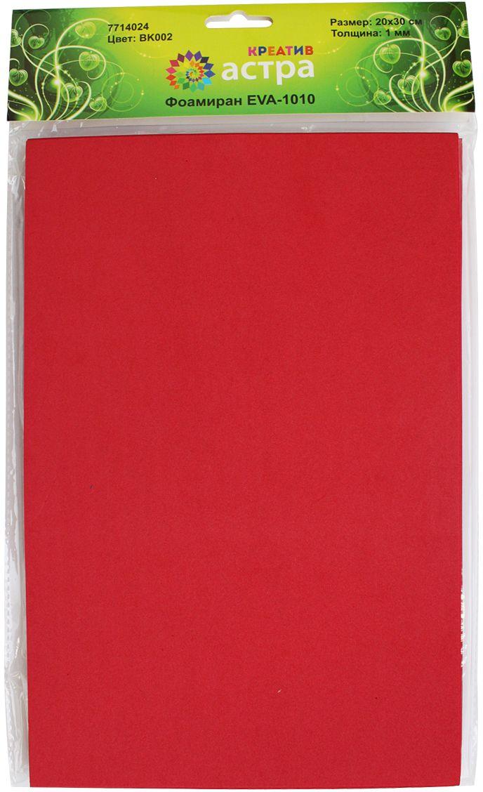 Фоамиран Астра, цвет: красный, 20 х 30 см, 10 шт7714024_BK002 красныйФоамиран Астра - это пластичная замша, ее можно применить для создания разнообразного вида декора: открытки, магнитики, цветы, забавные игрушки и т.д. Главная особенность материала фоамиран заключается в его способности к незначительному растяжению, которого вполне достаточно для запоминания изделием своей формы.На ощупь мягкая синтетическая замша очень приятна и податлива, поэтому работать с ней не составит труда даже начинающему.Размер ткани: 200 x 300 мм. В упаковке 10 штук.