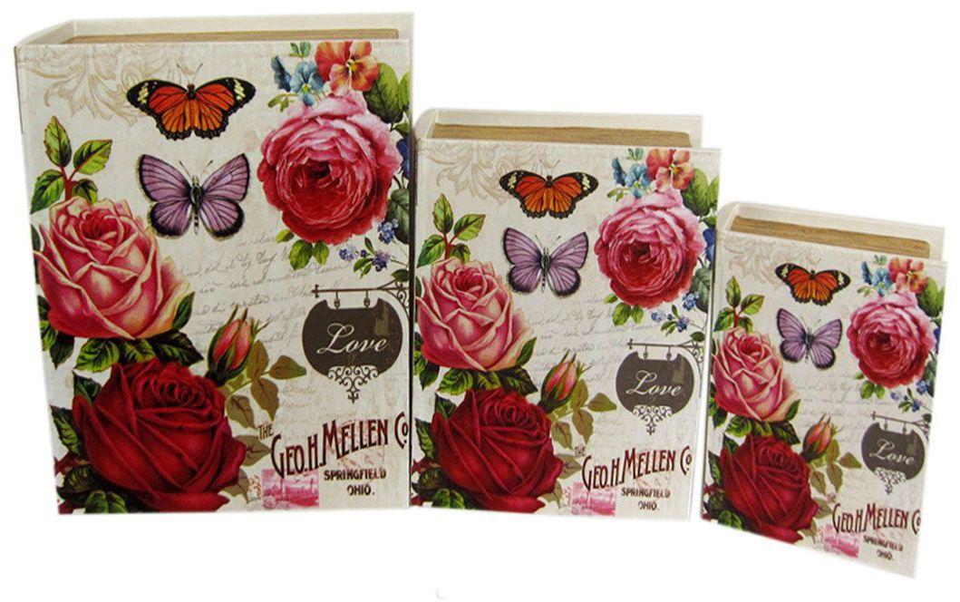 Шкатулка для рукоделия Бабочки в розах, 19х13х5 см. TL4555S771516703