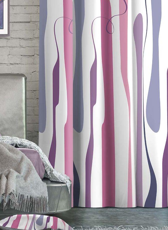 Штора Волшебная ночь Vibrant, на ленте, цвет: сиреневый, бледно-розовый, белый, высота 270 см. 705540705540Шторы коллекции Волшебная ночь - это готовое решение для вашего интерьера, гарантирующее красоту, удобство и индивидуальный стиль! Штора изготовлена из мягкой, приятной на ощупь ткани сатен, которая обеспечивает частичное затемнение и легко драпируется. Длина шторы регулируется с помощью клеевой паутинки (в комплекте). Изделие крепится на вшитую шторную ленту: на крючки или путем продевания на карниз. Дизайнеры марки Волшебная ночь предлагают уже сформированные комплекты штор из различных тканей и рисунков для создания идеальной композиции на окне. Для удобства выбора дизайны штор распределены в стилевые коллекции: этно, версаль, лофт, прованс. В коллекции Волшебная ночь к данной шторе вы также сможете подобрать шторы из других тканей: блэкаут (100% затемнение), габардин (частичное затемнение) и вуаль (практически нулевое затемнение), которые будут прекрасно сочетаться по дизайну и обеспечат особый уют вашему дому.