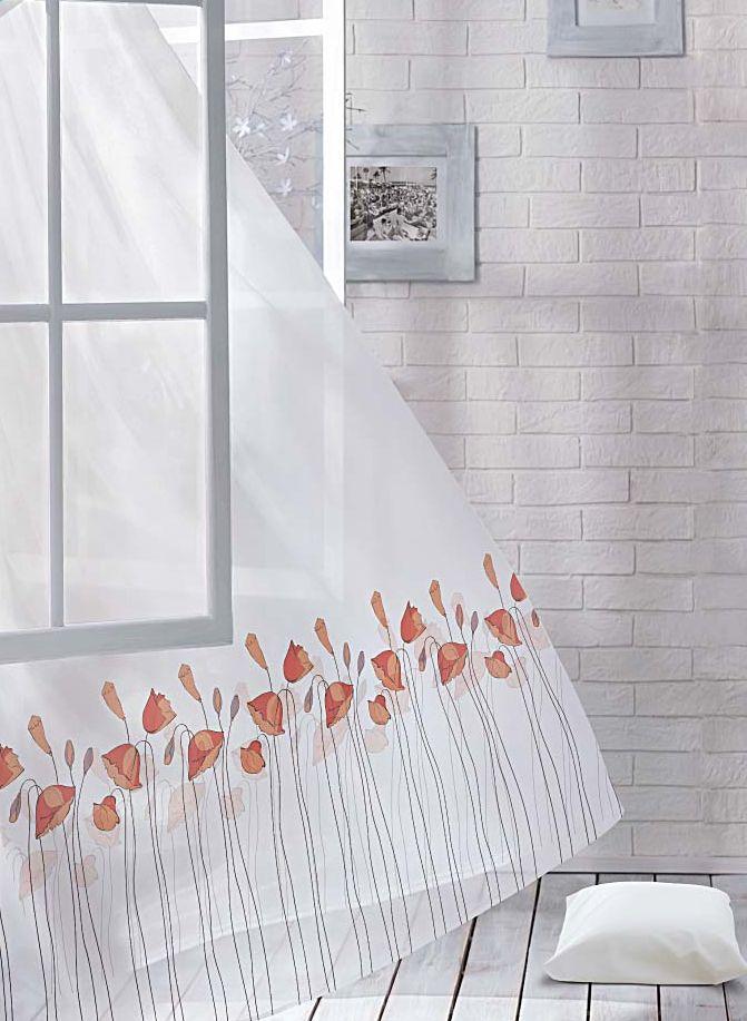 Комплект штор Волшебная ночь Floral, на ленте, цвет: красный, белый, высота 270 см705487Шторы коллекции Волшебная ночь - это готовое решение для интерьера, гарантирующее красоту, удобство и индивидуальный стиль.Шторы изготовлены из ткани вуаль, которая почти не мешает прохождению света, но защищает комнату от посторонних взглядов.Длина штор регулируется с помощью клеевой паутинки (в комплекте). Изделия крепятся на вшитую шторную ленту: на крючки или путем продевания на карниз.Высота: 270 см.