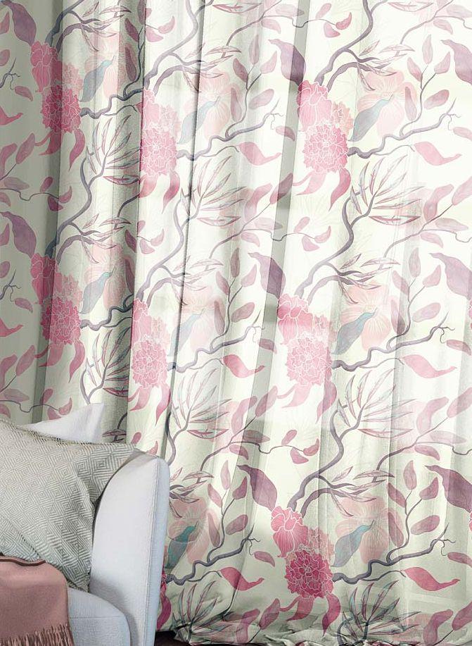 Комплект штор Волшебная ночь Summer Fantasy, на ленте, цвет: бледно-розовый, белый, высота 270 см, 2 шт704559Шторы коллекции Волшебная ночь - это готовое решение для вашего интерьера, гарантирующее красоту, удобство и индивидуальный стиль! Шторы изготовлены из тонкой и легкой ткани вуаль, которая почти не препятствует прохождению света, но защищает комнату от посторонних взглядов. Длина штор регулируется с помощью клеевой паутинки (в комплекте). Изделия крепятся на вшитую шторную ленту: на крючки или путем продевания на карниз. Дизайнеры марки Волшебная ночь предлагают уже сформированные комплекты штор из различных тканей и рисунков для создания идеальной композиции на окне. Для удобства выбора дизайны штор распределены в стилевые коллекции: этно, версаль, лофт, прованс. В коллекции Волшебная ночь к данной шторе вы также сможете подобрать шторы из других тканей: блэкаут (100% затемнение), сатен и габардин (частичное затемнение), которые будут прекрасно сочетаться по дизайну и обеспечат особый уют вашему дому.