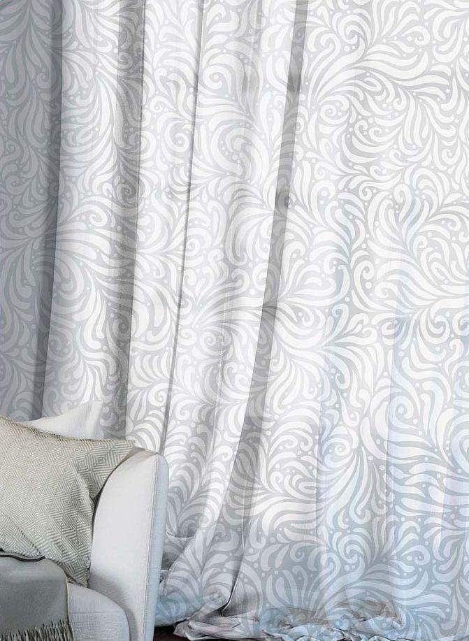 Комплект штор Волшебная ночь Chamomile, на ленте, цвет: светло-серый, высота 270 см704564Шторы коллекции Волшебная ночь - это готовое решение для интерьера, гарантирующее красоту, удобство и индивидуальный стиль.Шторы изготовлены из ткани вуаль, которая почти не мешает прохождению света, но защищает комнату от посторонних взглядов.Длина штор регулируется с помощью клеевой паутинки (в комплекте). Изделия крепятся на вшитую шторную ленту: на крючки или путем продевания на карниз.Высота: 270 см.