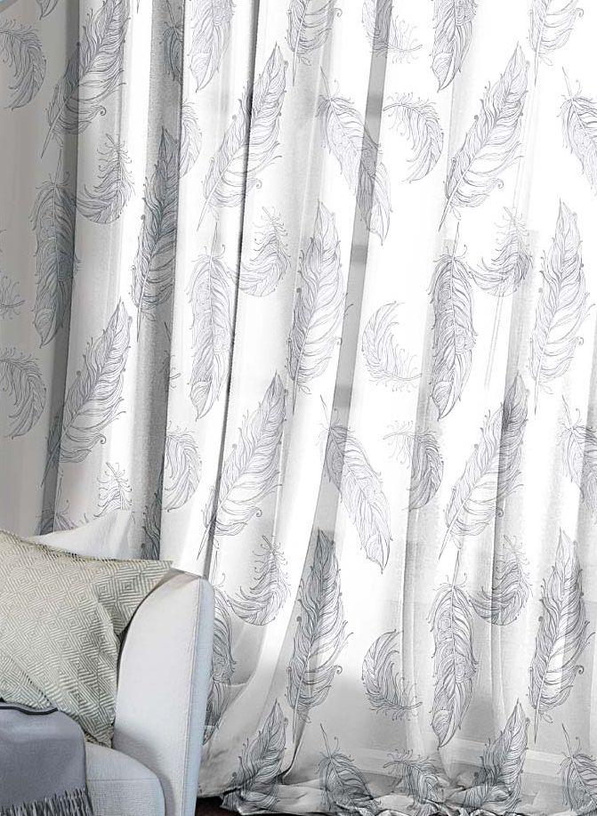 Комплект штор Волшебная ночь Lana, на ленте, цвет: светло-серый, белый, высота 270 см, 2 шт705499Шторы коллекции Волшебная ночь - это готовое решение для вашего интерьера, гарантирующее красоту, удобство и индивидуальный стиль! Шторы изготовлены из тонкой и легкой ткани вуаль, которая почти не препятствует прохождению света, но защищает комнату от посторонних взглядов. Длина штор регулируется с помощью клеевой паутинки (в комплекте). Изделия крепятся на вшитую шторную ленту: на крючки или путем продевания на карниз. Дизайнеры марки Волшебная ночь предлагают уже сформированные комплекты штор из различных тканей и рисунков для создания идеальной композиции на окне. Для удобства выбора дизайны штор распределены в стилевые коллекции: этно, версаль, лофт, прованс. В коллекции Волшебная ночь к данной шторе вы также сможете подобрать шторы из других тканей: блэкаут (100% затемнение), сатен и габардин (частичное затемнение), которые будут прекрасно сочетаться по дизайну и обеспечат особый уют вашему дому.