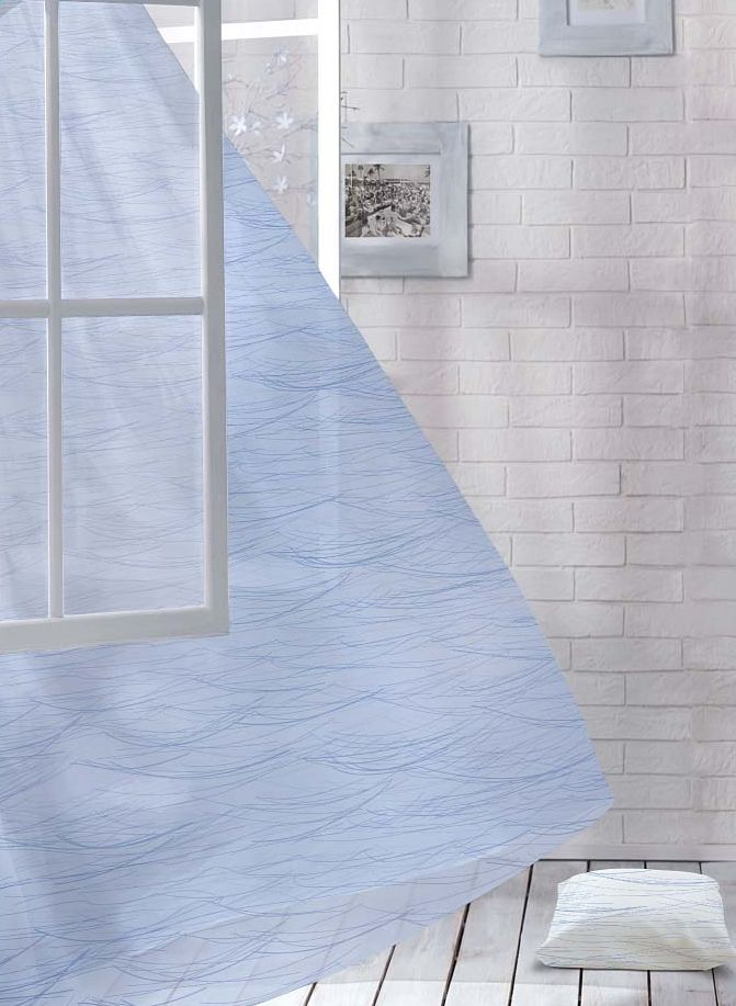 Комплект штор Волшебная ночь Lighthouse, на ленте, цвет: серо-голубой, высота 270 см, 2 шт705483Шторы коллекции Волшебная ночь - это готовое решение для вашего интерьера, гарантирующее красоту, удобство и индивидуальный стиль! Шторы изготовлены из тонкой и легкой ткани вуаль, которая почти не препятствует прохождению света, но защищает комнату от посторонних взглядов. Длина штор регулируется с помощью клеевой паутинки (в комплекте). Изделия крепятся на вшитую шторную ленту: на крючки или путем продевания на карниз. Дизайнеры марки Волшебная ночь предлагают уже сформированные комплекты штор из различных тканей и рисунков для создания идеальной композиции на окне. Для удобства выбора дизайны штор распределены в стилевые коллекции: этно, версаль, лофт, прованс. В коллекции Волшебная ночь к данной шторе вы также сможете подобрать шторы из других тканей: блэкаут (100% затемнение), сатен и габардин (частичное затемнение), которые будут прекрасно сочетаться по дизайну и обеспечат особый уют вашему дому.