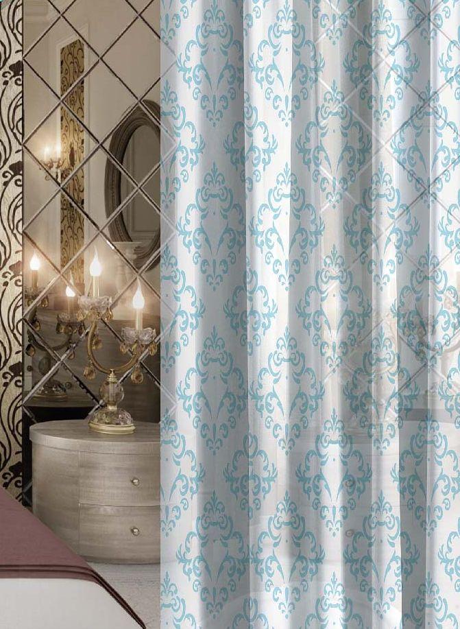 Комплект штор Волшебная ночь Finesse, на ленте, цвет: голубой, белый, высота 270 см704556Шторы коллекции Волшебная ночь - это готовое решение для интерьера, гарантирующее красоту, удобство и индивидуальный стиль.Шторы изготовлены из ткани вуаль, которая почти не мешает прохождению света, но защищает комнату от посторонних взглядов.Длина штор регулируется с помощью клеевой паутинки (в комплекте). Изделия крепятся на вшитую шторную ленту: на крючки или путем продевания на карниз.Высота: 270 см.