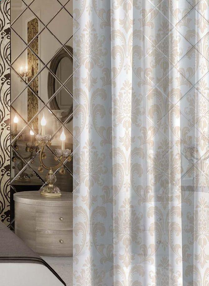 Комплект штор Волшебная ночь Princely, на ленте, цвет: бежевый, белый, высота 270 см, 2 шт705477Шторы коллекции Волшебная ночь - это готовое решение для вашего интерьера, гарантирующее красоту, удобство и индивидуальный стиль! Шторы изготовлены из тонкой и легкой ткани вуаль, которая почти не препятствует прохождению света, но защищает комнату от посторонних взглядов. Длина штор регулируется с помощью клеевой паутинки (в комплекте). Изделия крепятся на вшитую шторную ленту: на крючки или путем продевания на карниз. Дизайнеры марки Волшебная ночь предлагают уже сформированные комплекты штор из различных тканей и рисунков для создания идеальной композиции на окне. Для удобства выбора дизайны штор распределены в стилевые коллекции: этно, версаль, лофт, прованс. В коллекции Волшебная ночь к данной шторе вы также сможете подобрать шторы из других тканей: блэкаут (100% затемнение), сатен и габардин (частичное затемнение), которые будут прекрасно сочетаться по дизайну и обеспечат особый уют вашему дому.