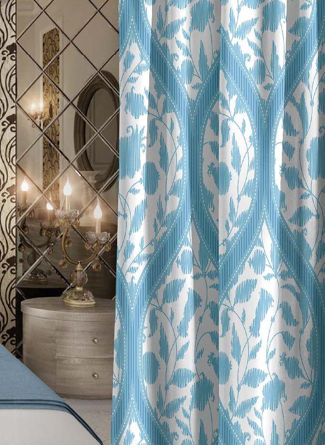 Штора Волшебная ночь Candy, на ленте, цвет: голубой, белый, высота 270 см705507Шторы коллекции Волшебная ночь - это готовое решение для интерьера, гарантирующее красоту, удобство и индивидуальный стиль!Штора изготовлена из приятной на ощупь ткани габардин, которая плотно драпирует окно, но позволяет свету частично проникать внутрь. Длина шторы регулируется с помощью клеевой паутинки (в комплекте). Изделие крепится на вшитую шторную ленту: на крючки или путем продевания на карниз.