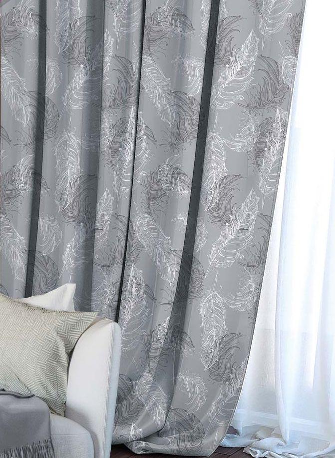 Штора Волшебная ночь Lana, на ленте, цвет: серый, высота 270 см705524Шторы коллекции Волшебная ночь - это готовое решение для Вашего интерьера, гарантирующее красоту, удобство и индивидуальный стиль! Штора изготовлена из приятной на ощупь ткани габардин, которая плотно драпирует окно, но позволяет свету частично проникать внутрь. Длина шторы регулируется с помощью клеевой паутинки (в комплекте). Изделие крепится на вшитую шторную ленту: на крючки или путем продевания на карниз. Дизайнеры марки Волшебная ночь предлагают уже сформированные комплекты штор из различных тканей и рисунков для создания идеальной композиции на окне. Для удобства выбора дизайны штор распределены в стилевые коллекции: этно, версаль, лофт, прованс. В коллекции Волшебная ночь к данной шторе вы также сможете подобрать шторы из других тканей: блэкаут (100% затемнение), сатен (частичное затемнение) и вуаль (практически нулевое затемнение), которые будут прекрасно сочетаться по дизайну и обеспечат особый уют вашему дому.