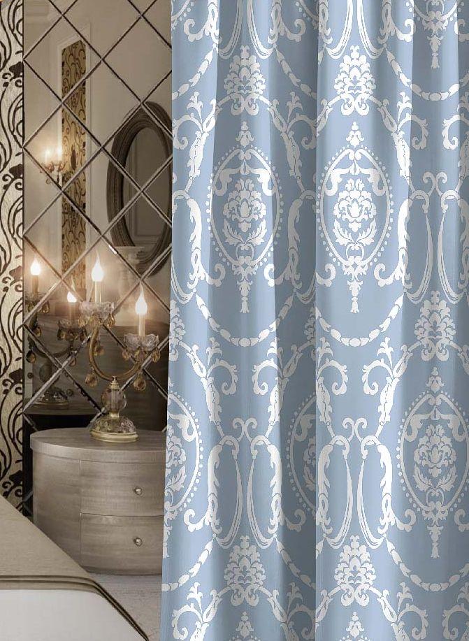 Штора Волшебная ночь Dainty, на ленте, цвет: серо-голубой, белый, высота 270 см. 705528705528Шторы коллекции Волшебная ночь - это готовое решение для вашего интерьера, гарантирующее красоту, удобство и индивидуальный стиль! Штора изготовлена из мягкой, приятной на ощупь ткани сатен, которая обеспечивает частичное затемнение и легко драпируется. Длина шторы регулируется с помощью клеевой паутинки (в комплекте). Изделие крепится на вшитую шторную ленту: на крючки или путем продевания на карниз. Дизайнеры марки Волшебная ночь предлагают уже сформированные комплекты штор из различных тканей и рисунков для создания идеальной композиции на окне. Для удобства выбора дизайны штор распределены в стилевые коллекции: этно, версаль, лофт, прованс. В коллекции Волшебная ночь к данной шторе вы также сможете подобрать шторы из других тканей: блэкаут (100% затемнение), габардин (частичное затемнение) и вуаль (практически нулевое затемнение), которые будут прекрасно сочетаться по дизайну и обеспечат особый уют вашему дому.