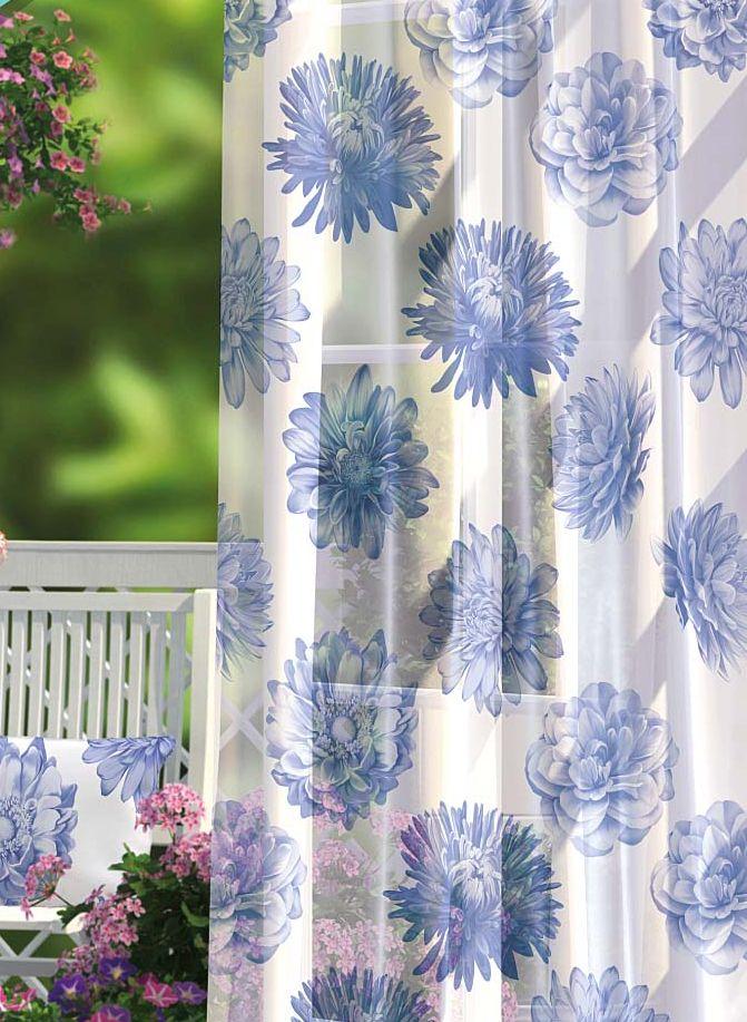 Комплект штор Волшебная ночь Summer Garden, на ленте, цвет: синий, белый.высота 270 см, 2 шт704568Шторы коллекции Волшебная ночь - это готовое решение для вашего интерьера, гарантирующее красоту, удобство и индивидуальный стиль! Шторы изготовлены из тонкой и легкой ткани вуаль, которая почти не препятствует прохождению света, но защищает комнату от посторонних взглядов. Длина штор регулируется с помощью клеевой паутинки (в комплекте). Изделия крепятся на вшитую шторную ленту: на крючки или путем продевания на карниз. Дизайнеры марки Волшебная ночь предлагают уже сформированные комплекты штор из различных тканей и рисунков для создания идеальной композиции на окне. Для удобства выбора дизайны штор распределены в стилевые коллекции: этно, версаль, лофт, прованс. В коллекции Волшебная ночь к данной шторе вы также сможете подобрать шторы из других тканей: блэкаут (100% затемнение), сатен и габардин (частичное затемнение), которые будут прекрасно сочетаться по дизайну и обеспечат особый уют вашему дому.