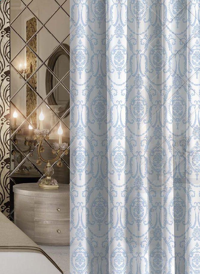Комплект штор Волшебная ночь Dainty, на ленте, цвет: серо-голубой, белый, высота 270 см, 2 шт705478Шторы коллекции Волшебная ночь - это готовое решение для вашего интерьера, гарантирующее красоту, удобство и индивидуальный стиль! Шторы изготовлены из тонкой и легкой ткани вуаль, которая почти не препятствует прохождению света, но защищает комнату от посторонних взглядов. Длина штор регулируется с помощью клеевой паутинки (в комплекте). Изделия крепятся на вшитую шторную ленту: на крючки или путем продевания на карниз. Дизайнеры марки Волшебная ночь предлагают уже сформированные комплекты штор из различных тканей и рисунков для создания идеальной композиции на окне. Для удобства выбора дизайны штор распределены в стилевые коллекции: этно, версаль, лофт, прованс. В коллекции Волшебная ночь к данной шторе вы также сможете подобрать шторы из других тканей: блэкаут (100% затемнение), сатен и габардин (частичное затемнение), которые будут прекрасно сочетаться по дизайну и обеспечат особый уют вашему дому.