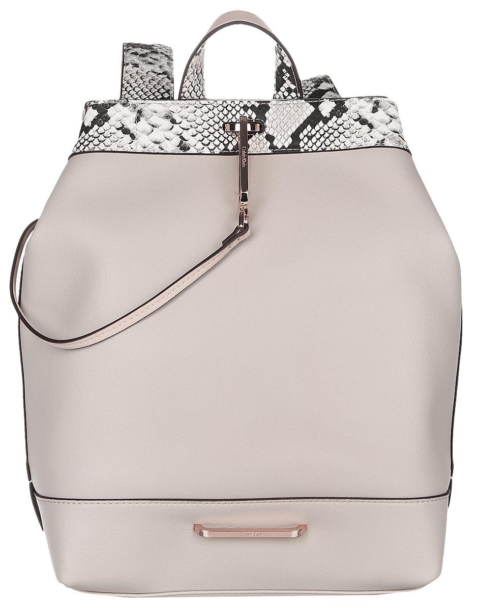 Рюкзак женский Calvin Klein Jeans, цвет: бежевый, белый. K60K602450_0690