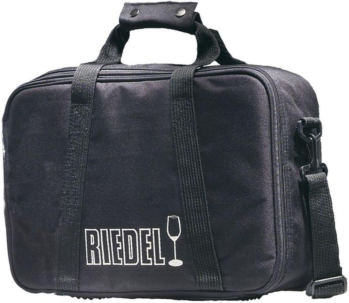 Сумка для транспортировки бокалов на ножке Riedel, цвет: черный, красный, 45 х 30 см. 5000/005000/00