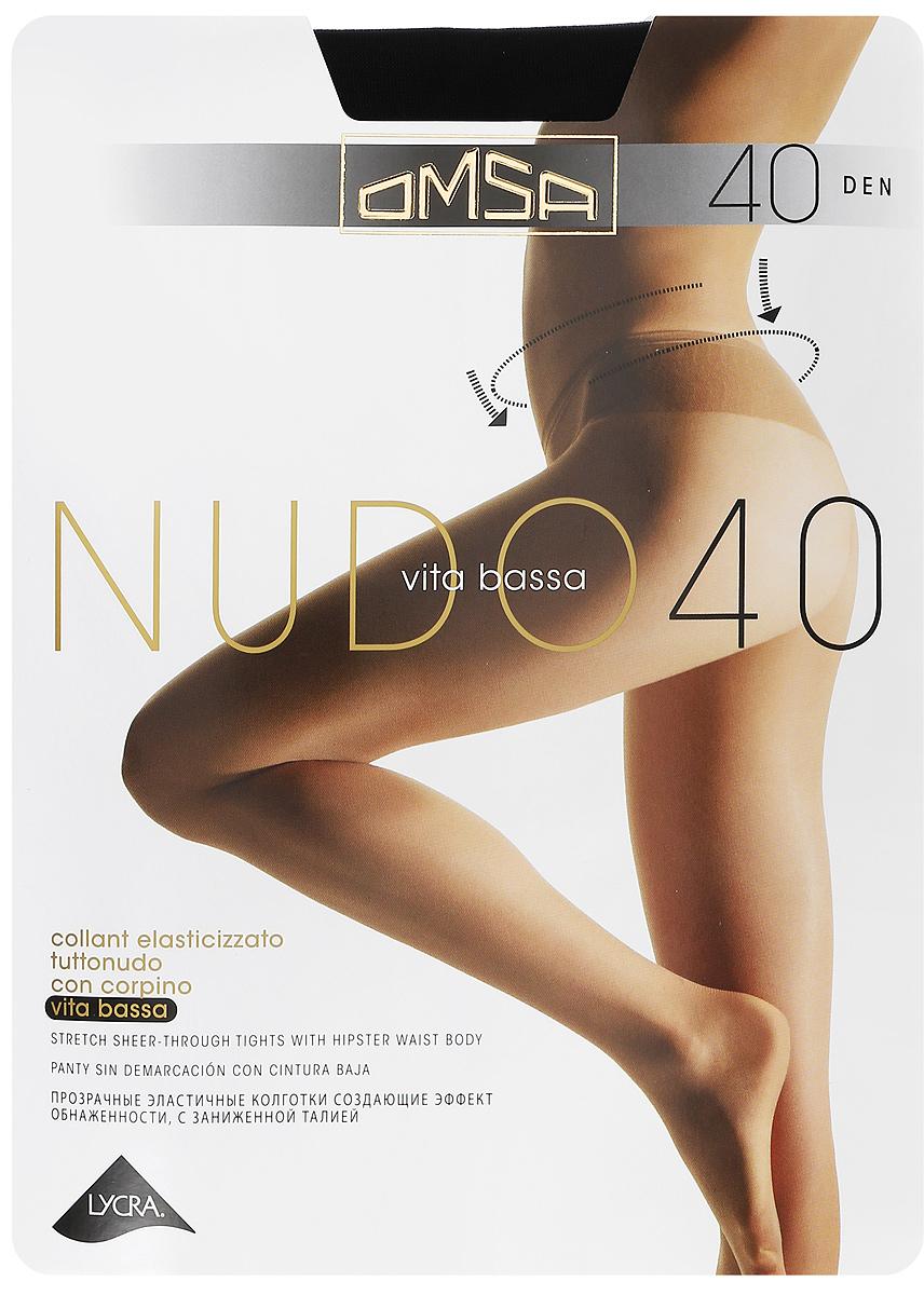 Колготки классические Omsa Nudo Vita Bassa 40. Nero (черные). Размер 2
