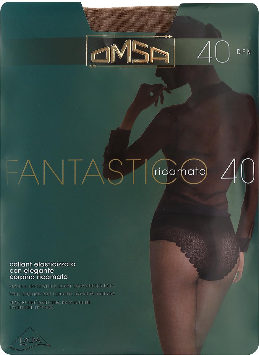 Колготки классические Omsa Fantastico 40. Daino (бежевые). Размер 4 чулки omsa malizia 20 daino бежевые размер 4