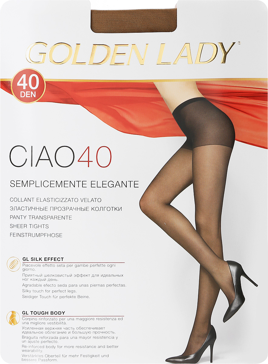 Колготки женские Golden Lady Ciao 40, цвет: загар. SSP-001413. Размер 4 цены онлайн