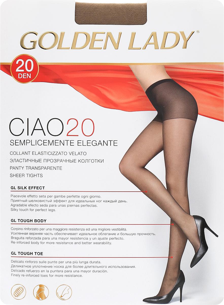 Колготки женские Golden Lady Ciao 20, цвет: загар. SNL-000666. Размер XL-Maxi golden lina колготки оптом