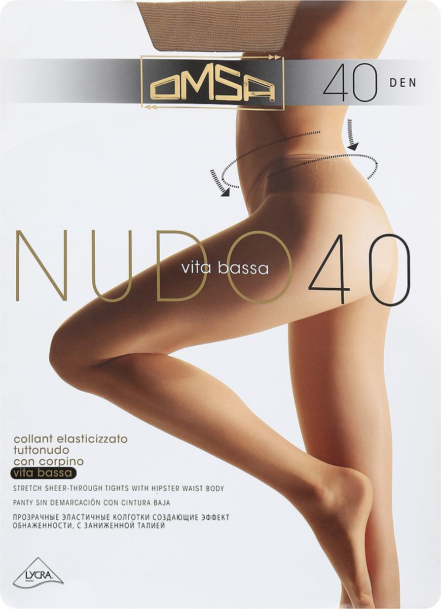 Колготки классические Omsa Nudo Vita Bassa 40. Daino (бежевые). Размер 3